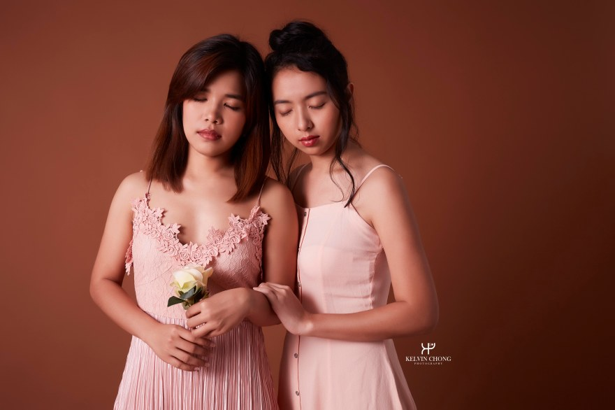 Sisters Photoshoot Makeup by Yue Qi
