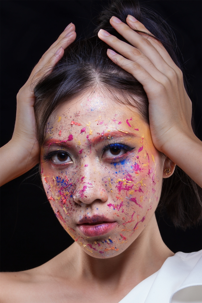 Colour Pop Unicorn Abstract Makeup by Yue Qi
